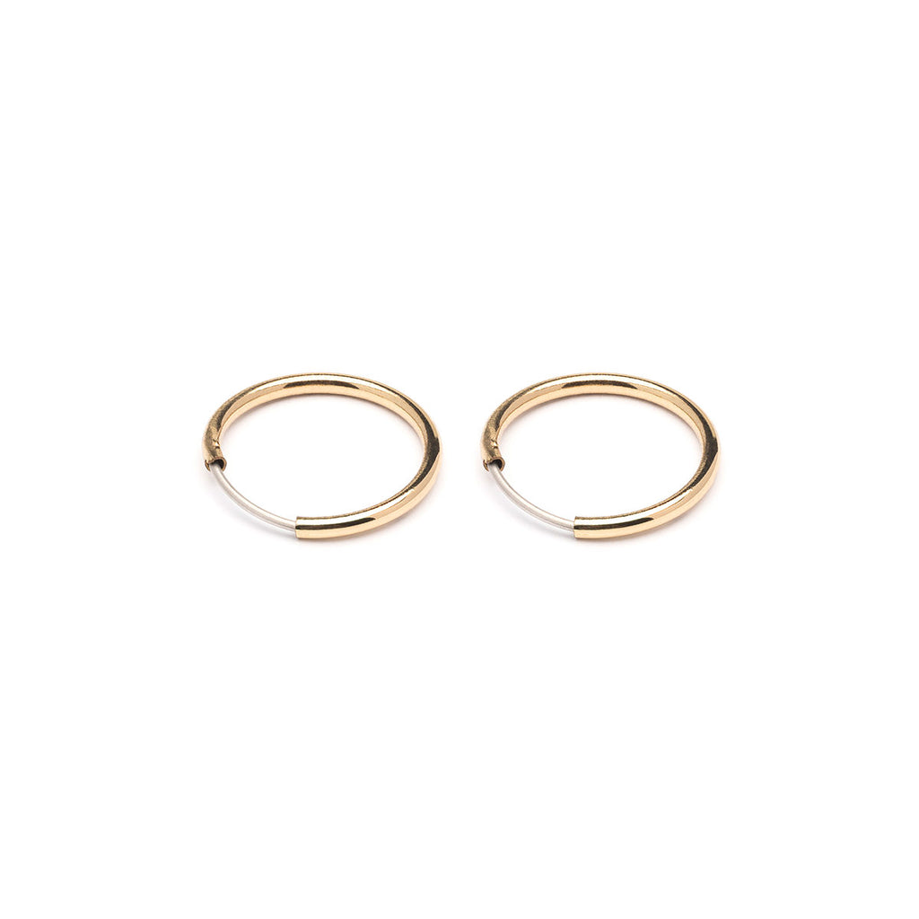 Small Endless Hoop Earrings Gold Plated - Simply Whispers