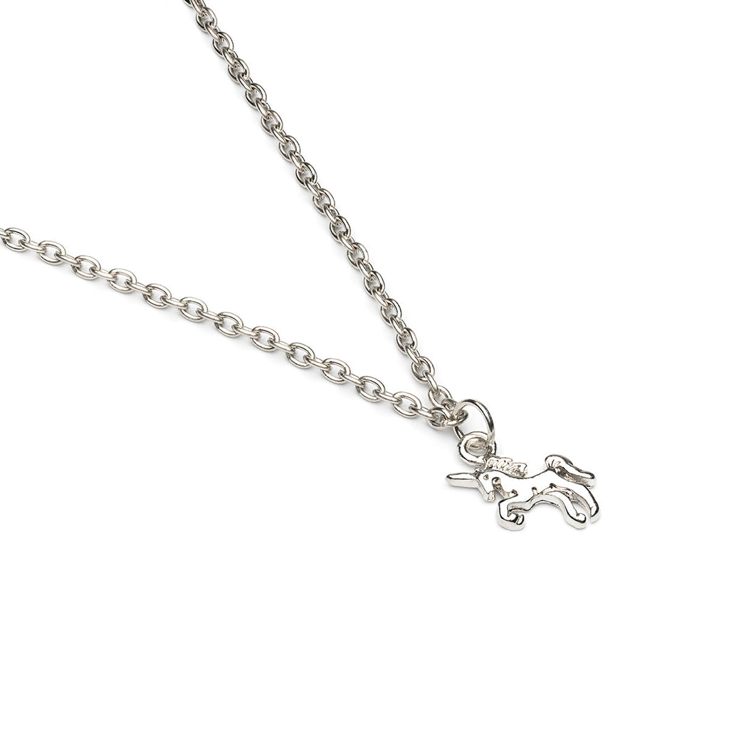 Silver Plated Tiny Unicorn Pendant Necklace - Simply Whispers