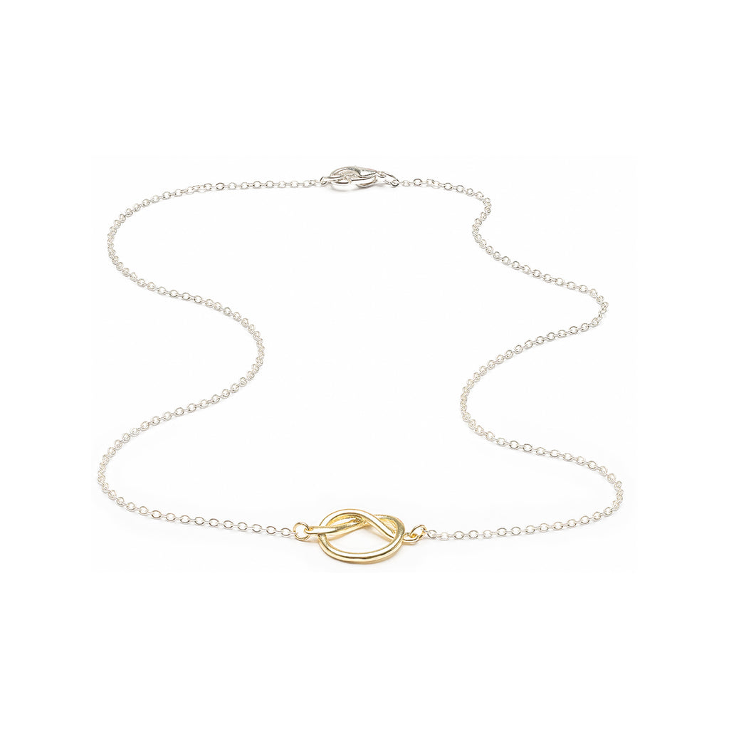 Knot Necklace Gold & Silver Plated - Simply Whispers