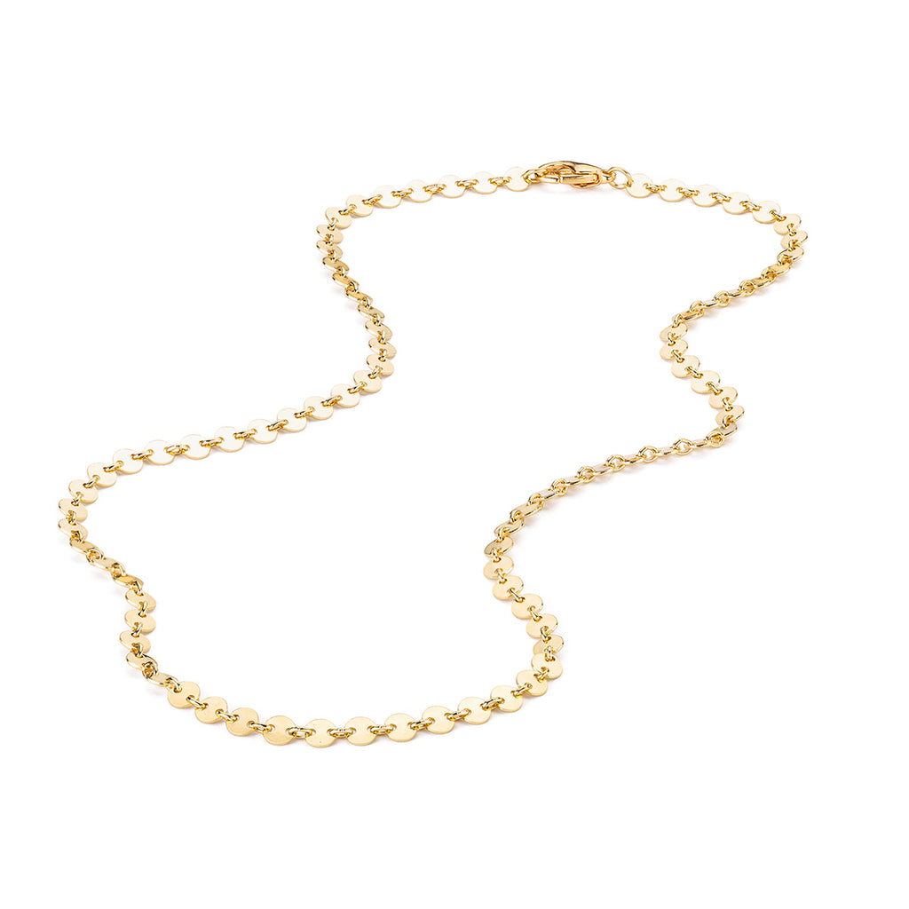 Gold Plated 16 Inch Coin Pendant Necklace - Simply Whispers