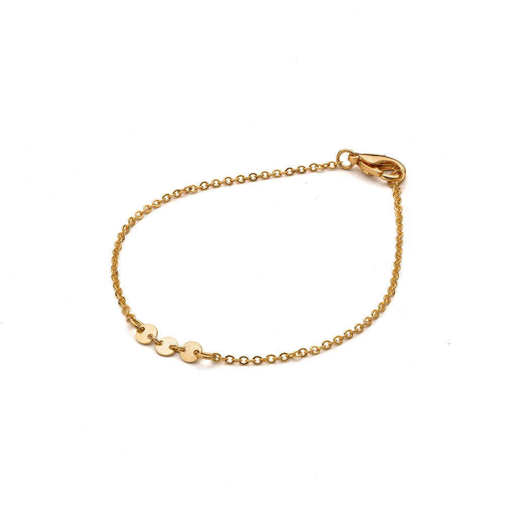 Gold plated 7 inch coin accent chain bracelet - Simply Whispers