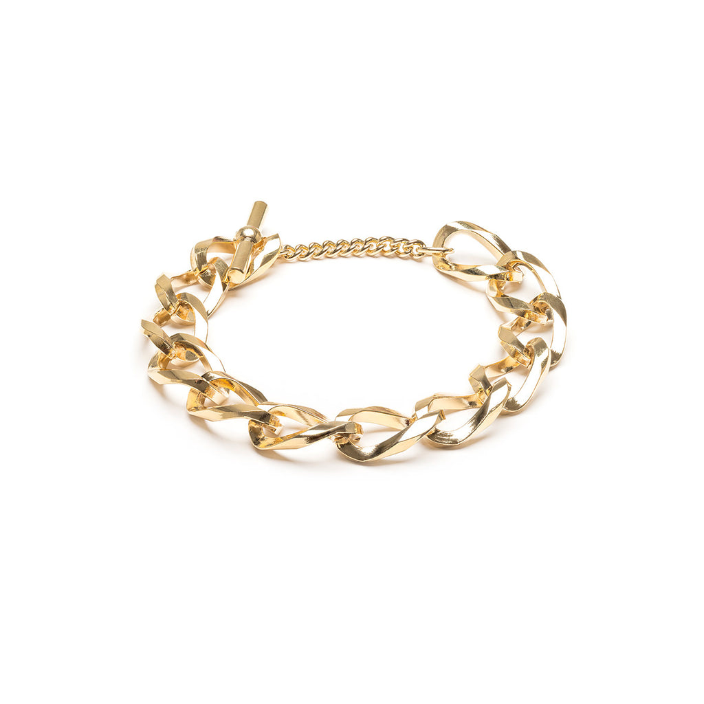 Large Curb Bracelet Gold Plated - Simply Whispers