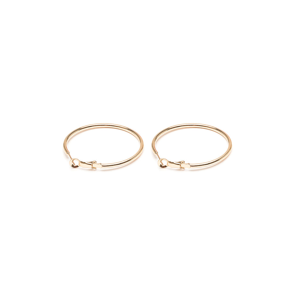 Large Thin Hoop Earrings - Simply Whispers