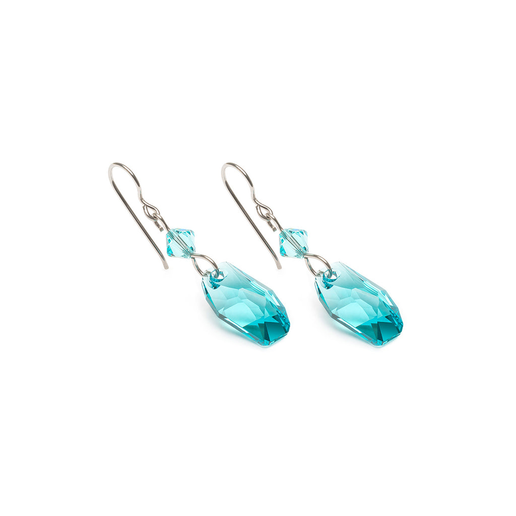 Turquoise Crystal Niobium Earrings - Simply Whispers