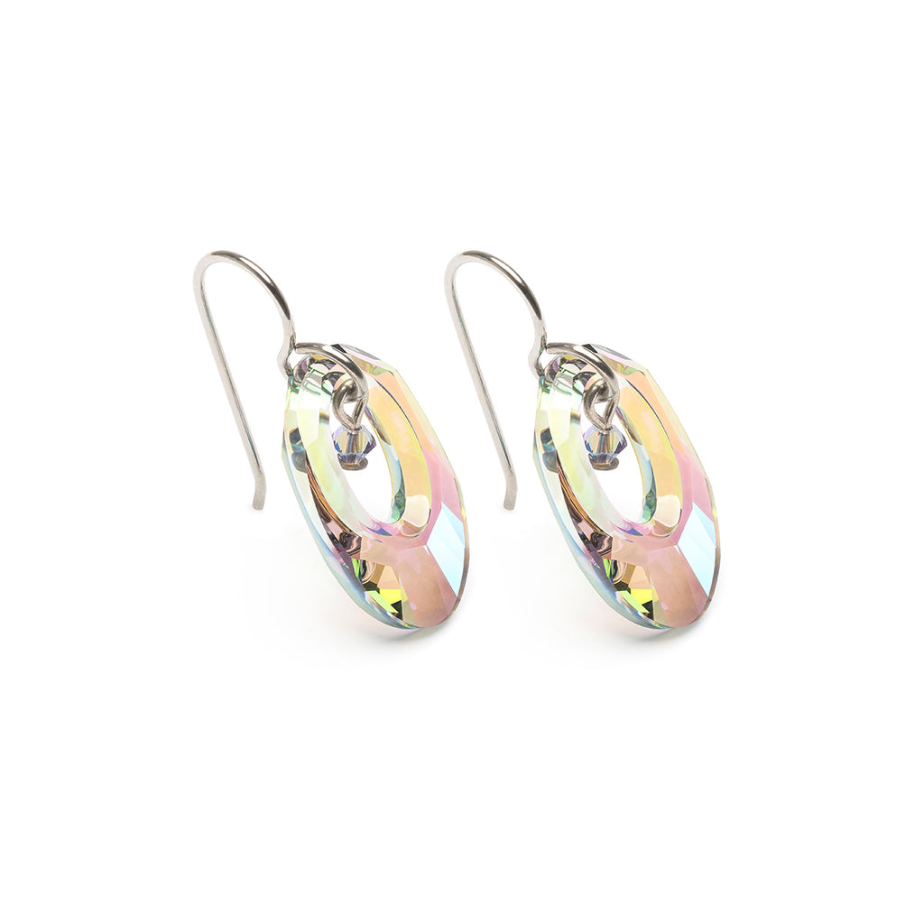 Lavender Crystal Niobium Earrings - Simply Whispers