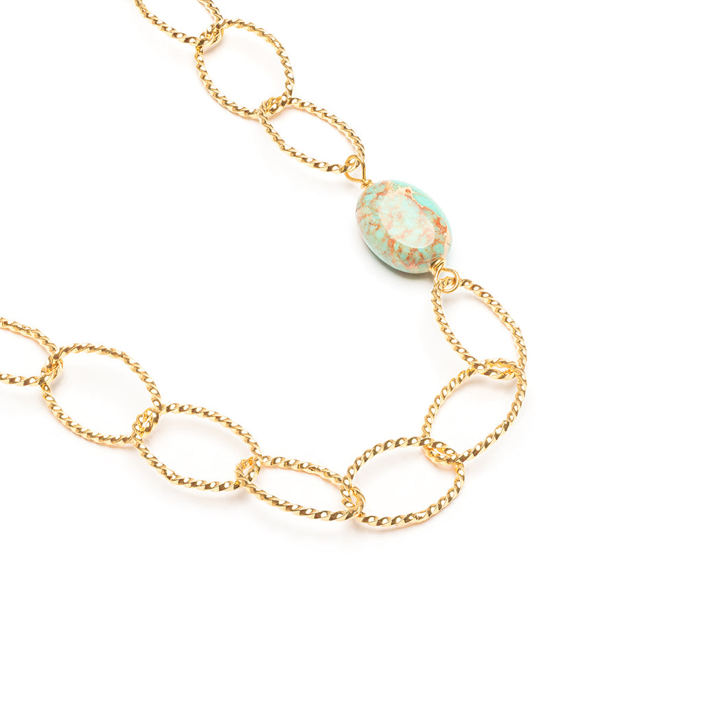 Magnesite Pendant Link Necklace - Simply Whispers
