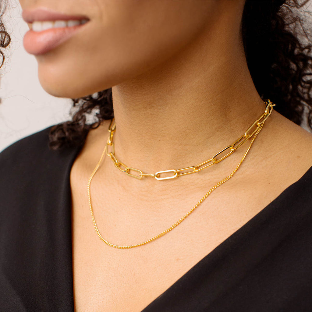 Chain Layered Necklace - Simply Whispers