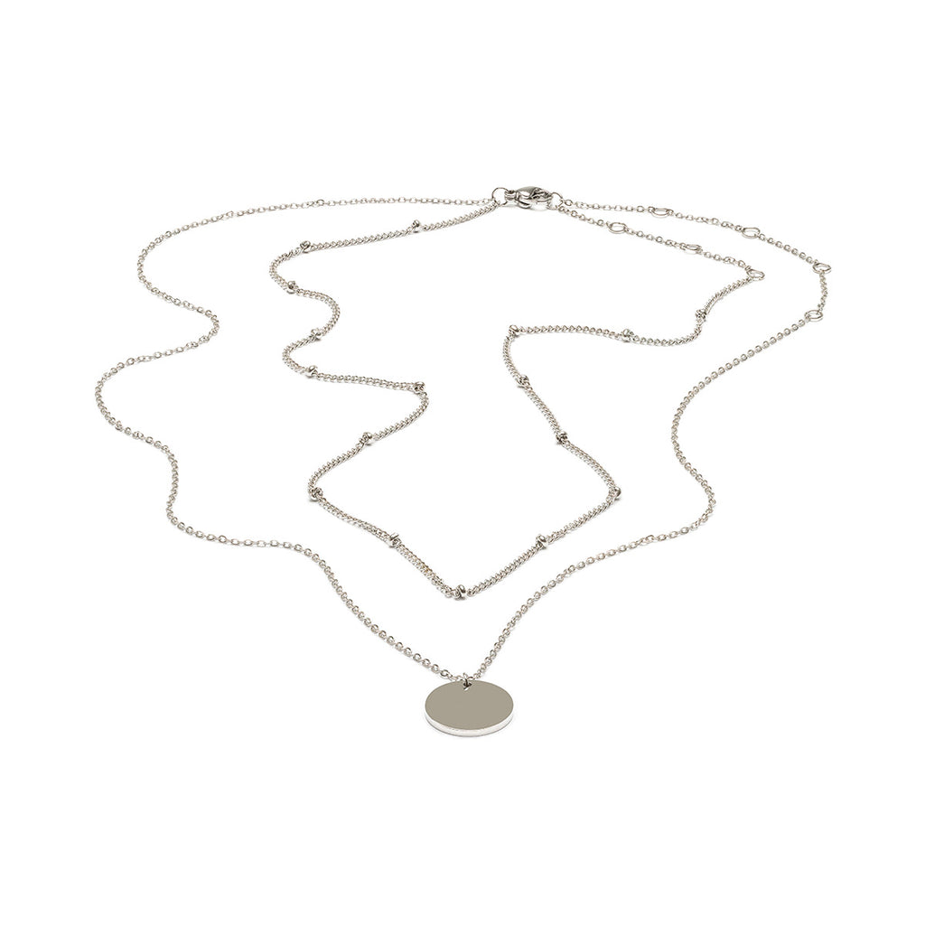 Layered Coin Necklace - Simply Whispers