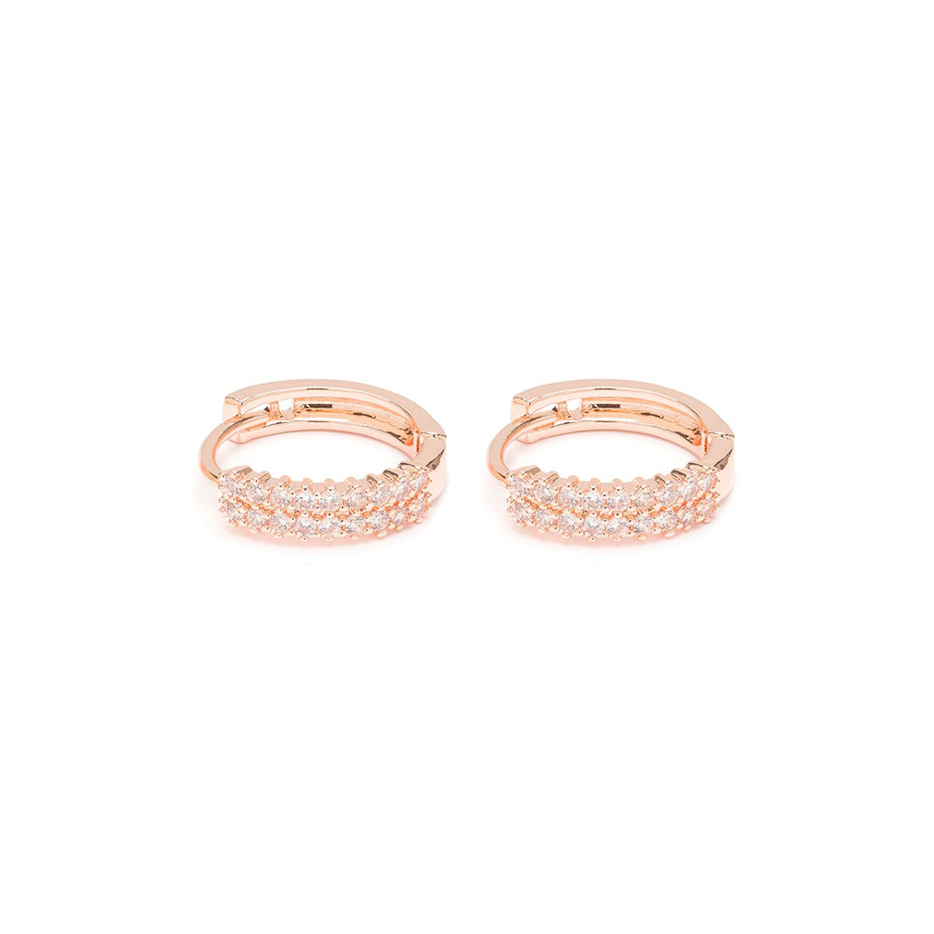 Double Zirconia Huggie Hoops - Simply Whispers