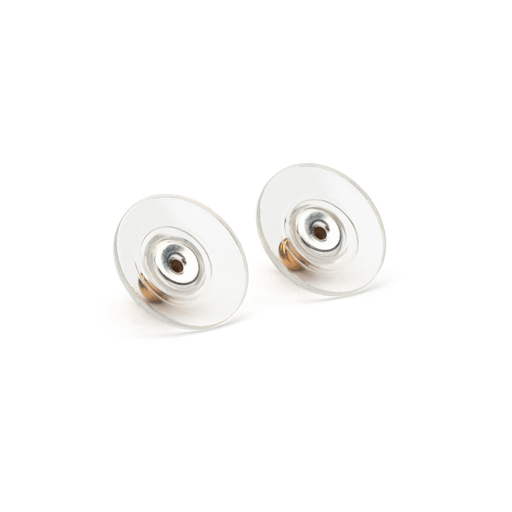 Gold Plated Plastic Disk Bullet Backs Accessory - 1 Pair - Simply Whispers