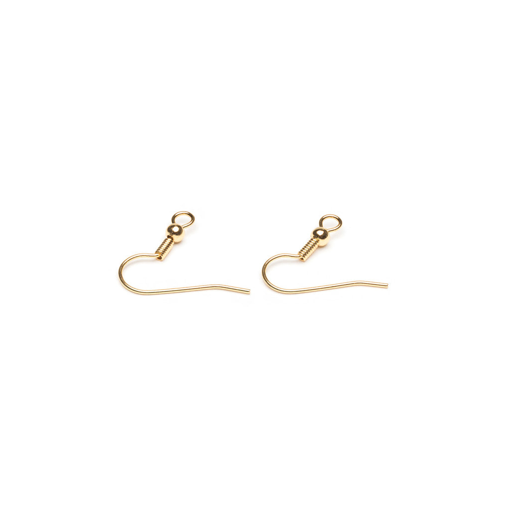 Gold Plated French Hook Wire With Ball Accessory - 1 Pair - Simply Whispers