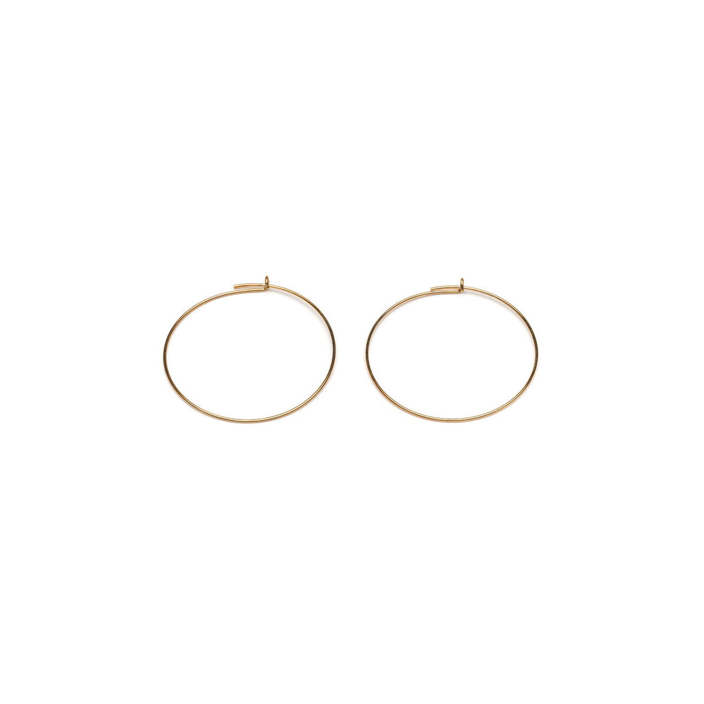 Gold Plated Round Ear Wire Accessory - 1 Pair - Simply Whispers