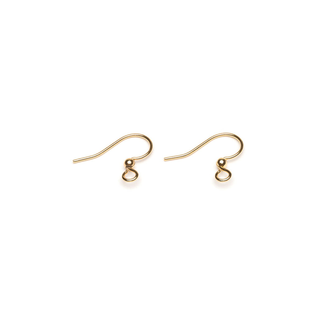 Gold Plated French Hook With Ball Accessory - 1 Pair - Simply Whispers