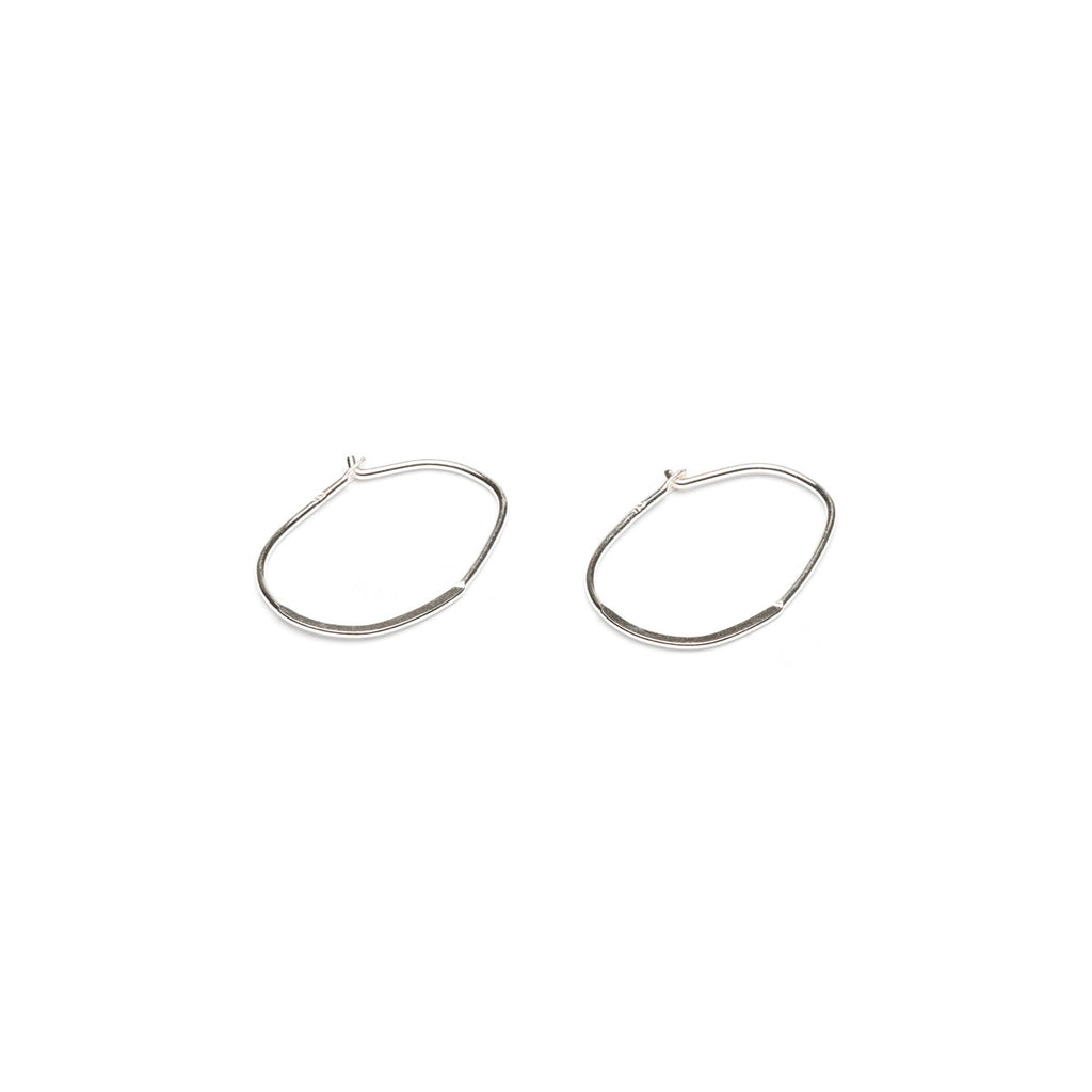 Sterling Silver Hoop Flat Oval Accessory - 1 Pair - Simply Whispers
