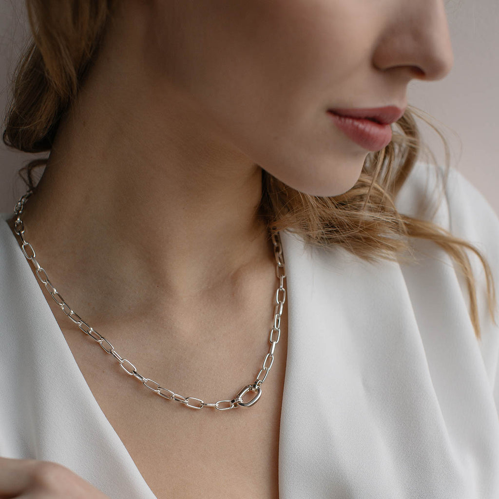 Silver Chunky Chain Necklace - Simply Whispers