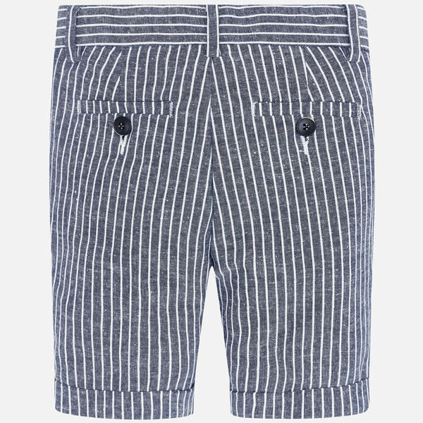 3253 Chambray Stripe Linen Shorts