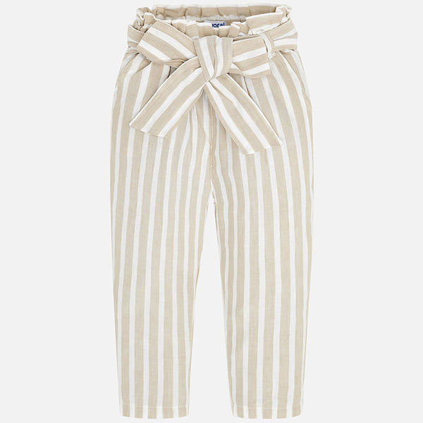 3540 Khaki Stripe Wide Leg Pants