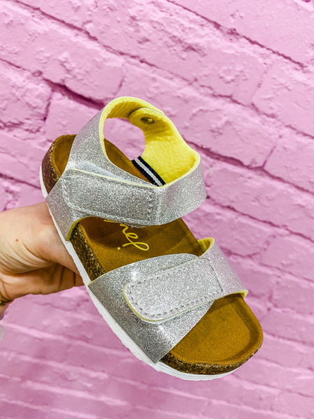 Tippy Toe Silver Sandals