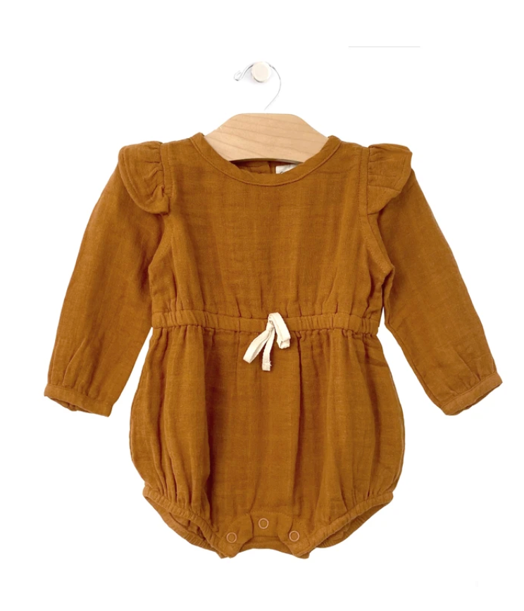 Wheat Muslin Shorty Romper
