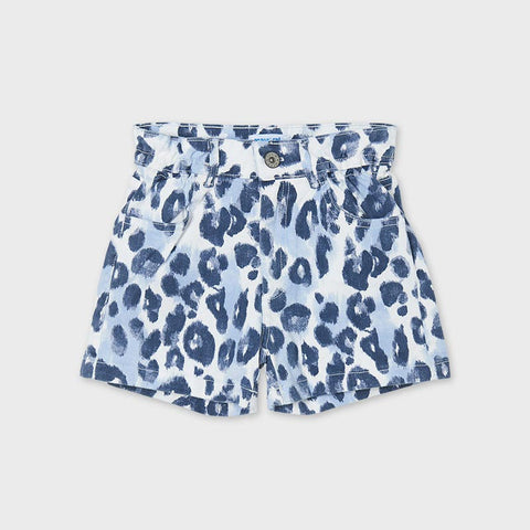 6271 Leopard Denim Shorts