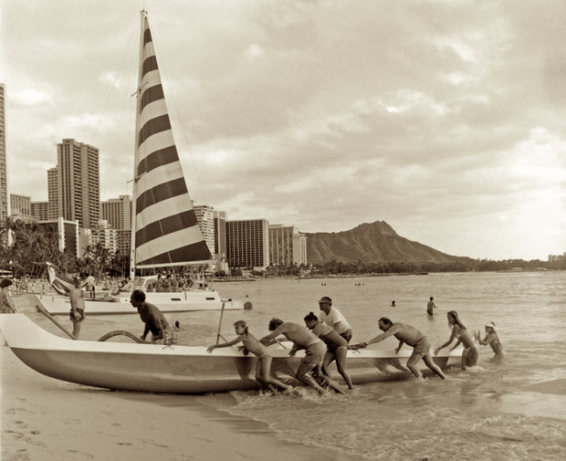 Waikiki Outrigger by Cathy Shine