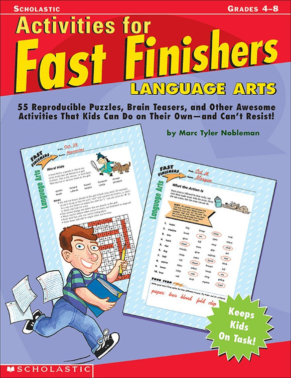 Activities for Fast Finishers: Language Arts Grades 4-8 (4748939690080)