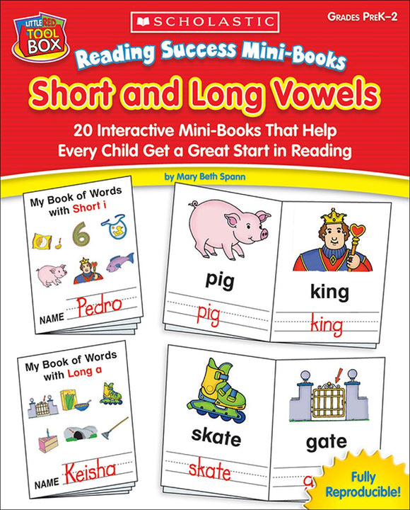 Reading Success Mini-Books: Short and Long Vowels