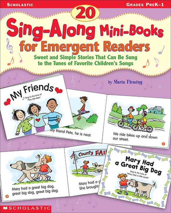 20 Sing-Along Mini-Books for Emergent Readers (4748938936416)