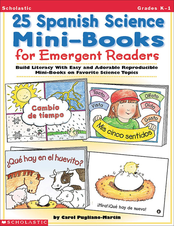 25 Spanish Science Mini-Books For Emergent Readers