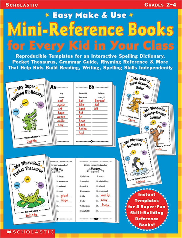 Easy Make & Use Mini-Reference Books for Every Kid in Your Class