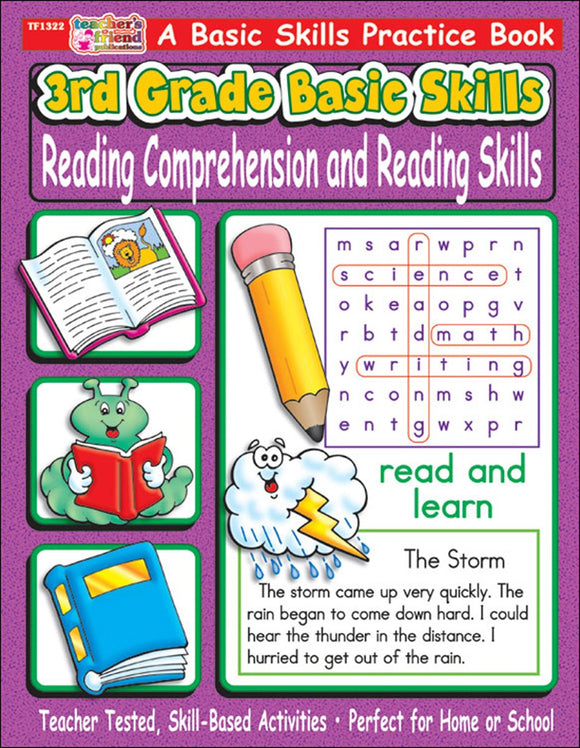 3rd Grade Basic Skills: Reading Comprehension and Reading Skills (4748939264096)