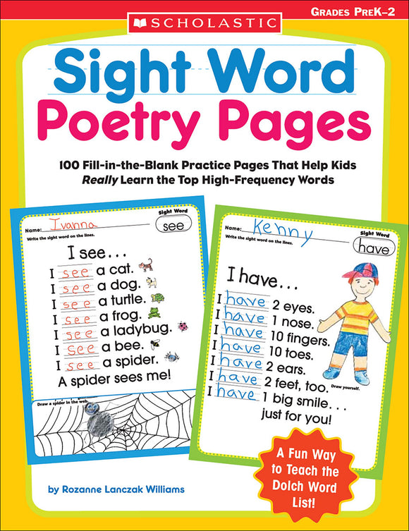 Sight Word Poetry Pages (4632389812320)