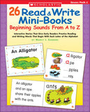 26 Read & Write Mini-Books: Beginning Sounds From A to Z (4748939165792)