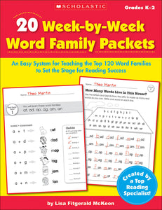 20 Week-by-Week Word Family Packets (4632391155808)