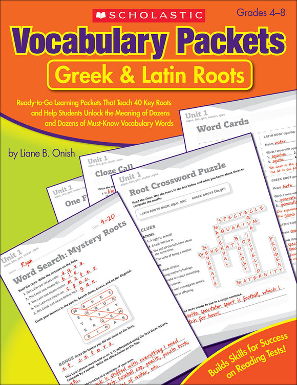 Vocabulary Packets Greek & Latin Roots (4632392532064)