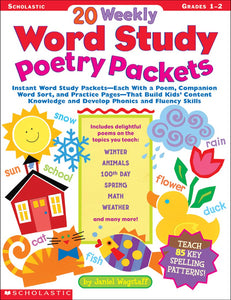 20 Weekly Word Study Poetry Packets (4748938969184)