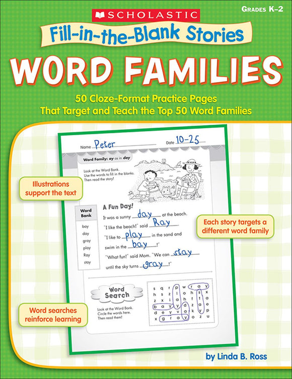 Fill-in-the-Blank Stories: Word Families