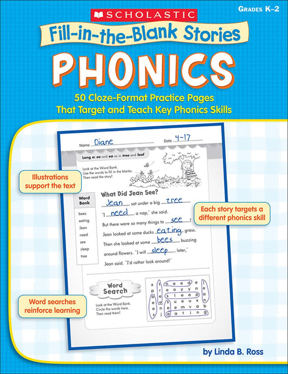 Fill-in-the-Blank Stories: Phonics