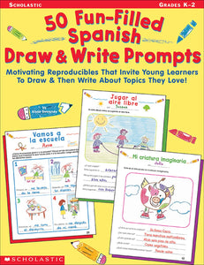 50 Fun-Filled Spanish Draw & Write Prompts