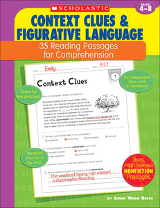 Context Clues & Figurative Language: 35 Reading Passages for Comprehension (4632393678944)