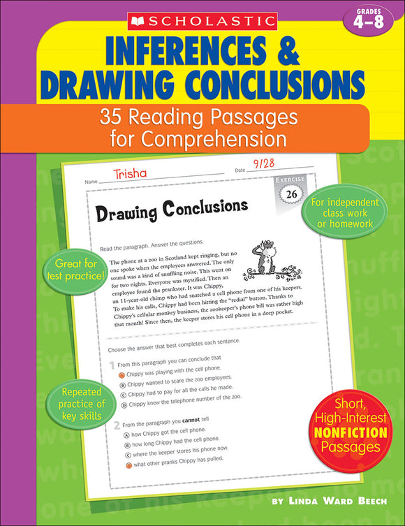 Inferences & Drawing Conclusion: 35 Reading Passages for Comprehension (4632393842784)