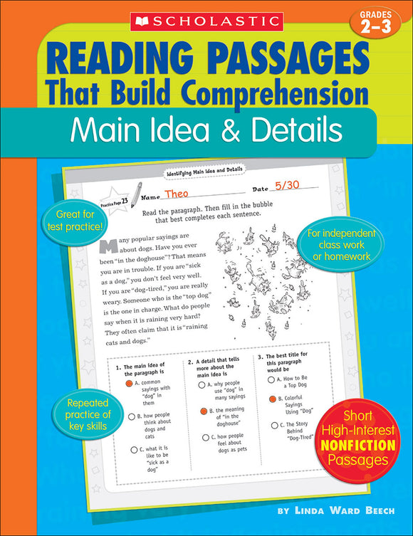 Reading Passages that Build Comprehension: Main Idea & Details (4632394629216)