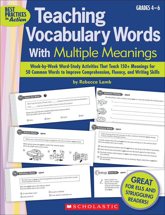 Teaching Vocabulary Words with Multiple Meanings