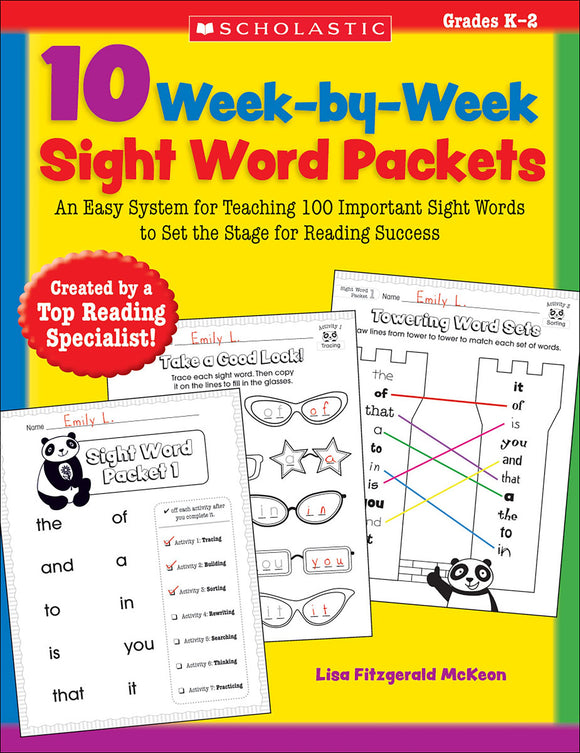 10 Week-by-Week Sight Word Packets (4632399904864)