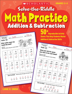 Solve-the-Riddle Math Practice: Addition & Subtraction