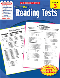 Scholastic Success With Reading Tests: Grade 3 Workbook (4632415436896)