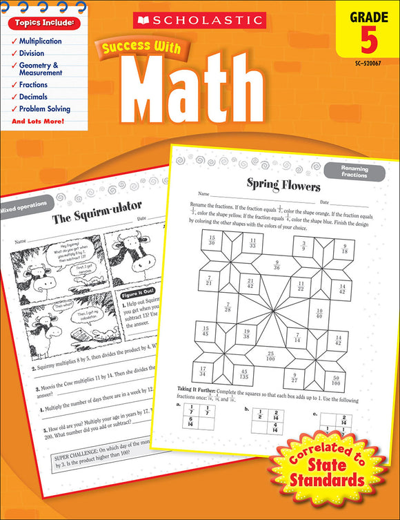 Scholastic Success With Math: Grade 5 Workbook