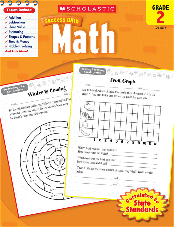 Scholastic Success With Math: Grade 2 Workbook