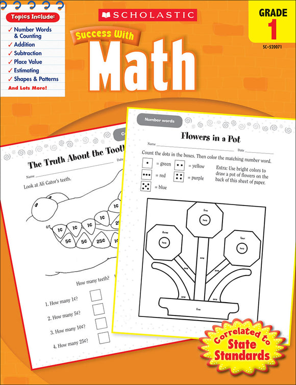 Scholastic Success With Math: Grade 1 Workbook (4632417304672)
