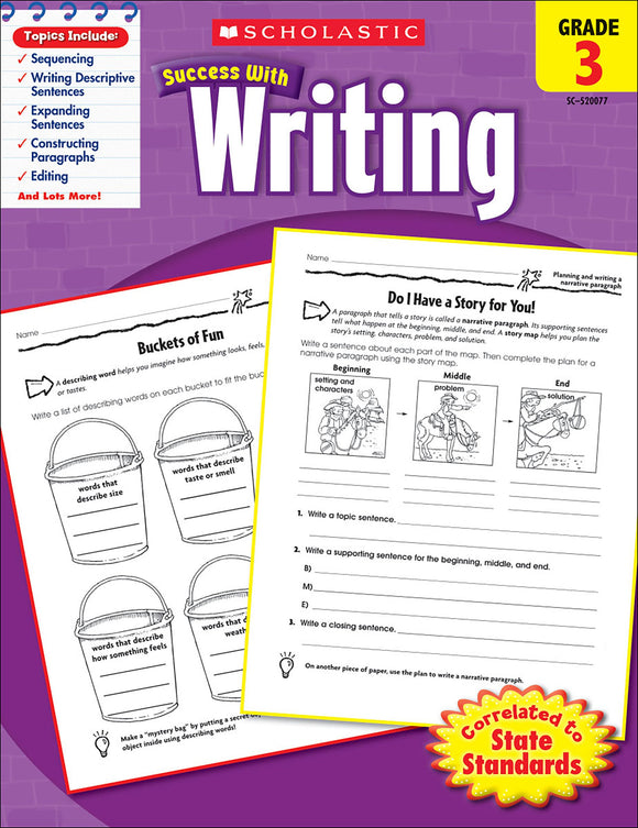 Scholastic Success With Writing: Grade 3 Workbook (4632418451552)